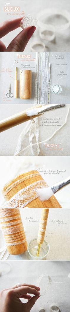 bijoux DIY dentelle