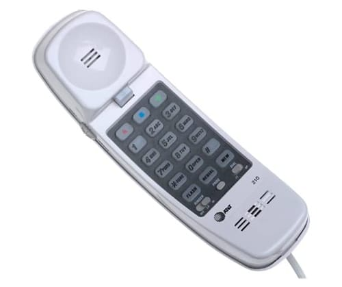 AT&T 210WH Basic Trimline Corded Phone