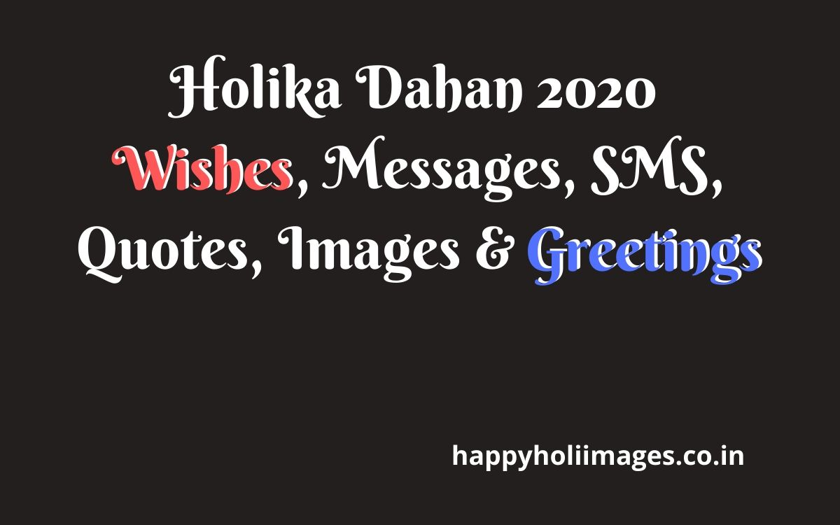 Happy Holika Dahan 2020