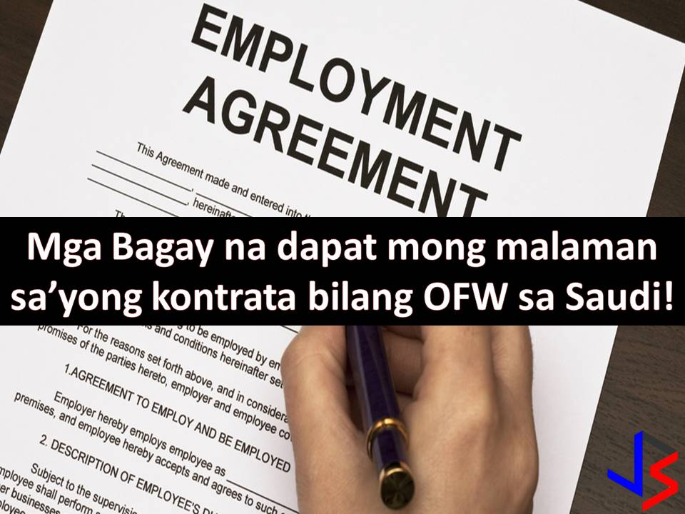 When working abroad, one of many important things you need to secure and understand is your employment contract or employment agreement.  This is a binding contract between you and your employer. Remember, it must be written and not an oral. Here, employment agreements are being addressed as long as an important aspect of your employment such as your salary, benefits, termination, obligations or duties and responsibilities of you as an employee and your employer.  Another advantage of having a contract is that this agreement can be referred to in the future, just in case there is a dispute between you and your employer.  Read: Salary? Things You Need to Know If You're Working in Saudi Arabia