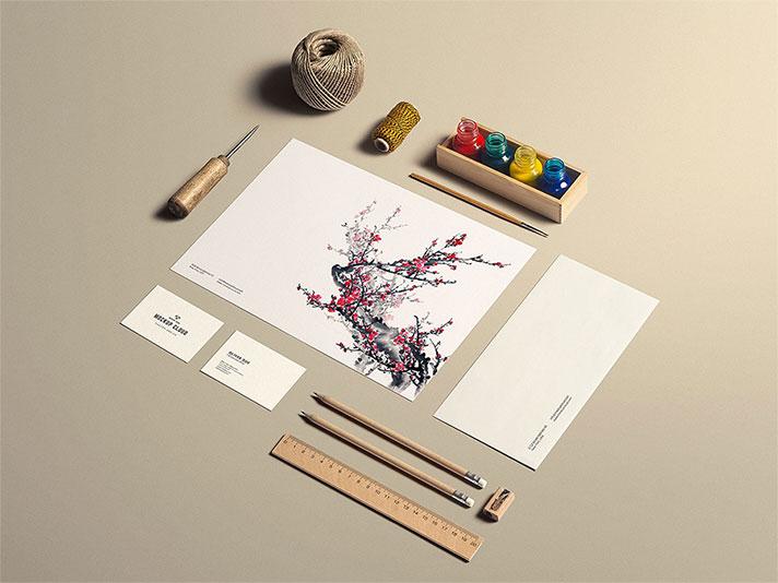 Art & Craft Stationery PSD Mockup