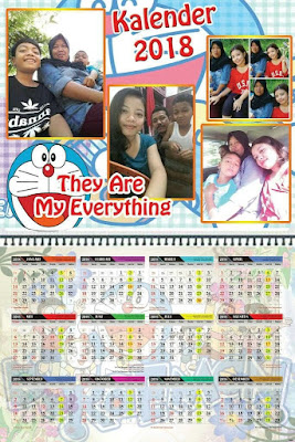 Contoh Desain Kalender 2018 Menggunakan Foto