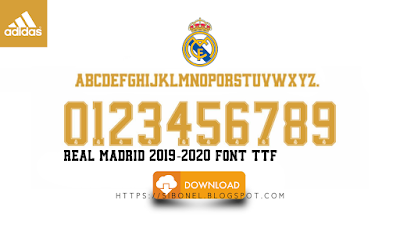 Font Real Madrid 2019-2020