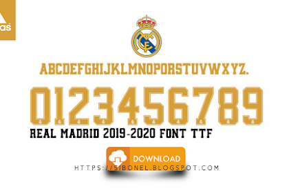 Download Font Jersey Real Madrid 2019-2020