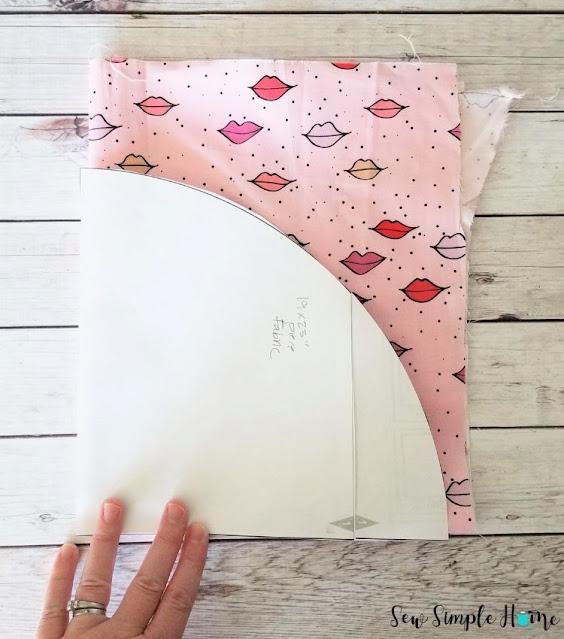 circular drawstring bag pattern