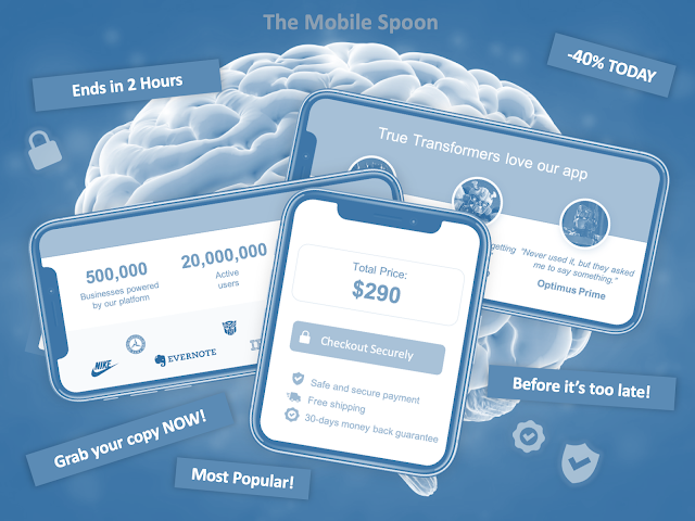Cognitive biases you should know in order to design better product - part 2, the mobile spoon