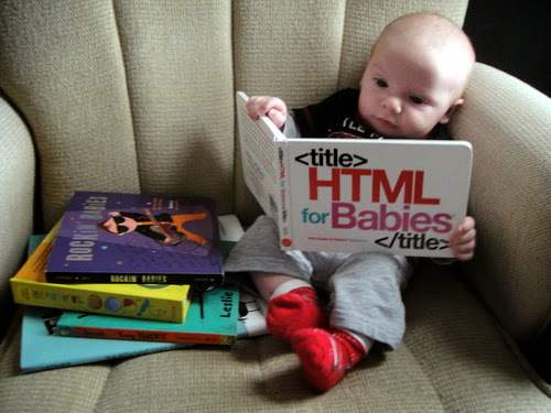 baby with html programming book