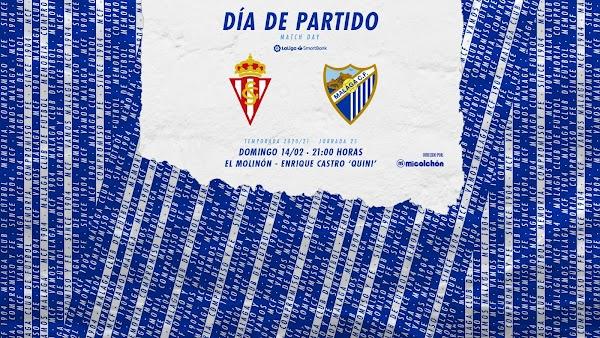 Cómo y dónde ver el Sporting de Gijón - Málaga