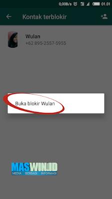cara membuka nomor yang terblokir pada WhatsApp sangat mudah