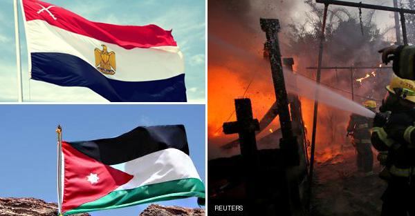 """هل تصدق مصر والاردن يقدمان المساعدة في حريق اسرائيل ! واسرائيل تعلق """"الصديق وقت الضيق"""""""