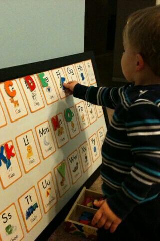 DIY Alphabet Learning Board