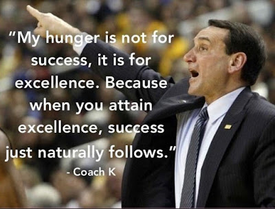 Coach K Quotes Excellence