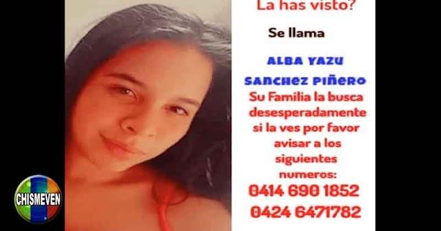 Joven se encuentra desaparecida en La Cañada de Maracaibo