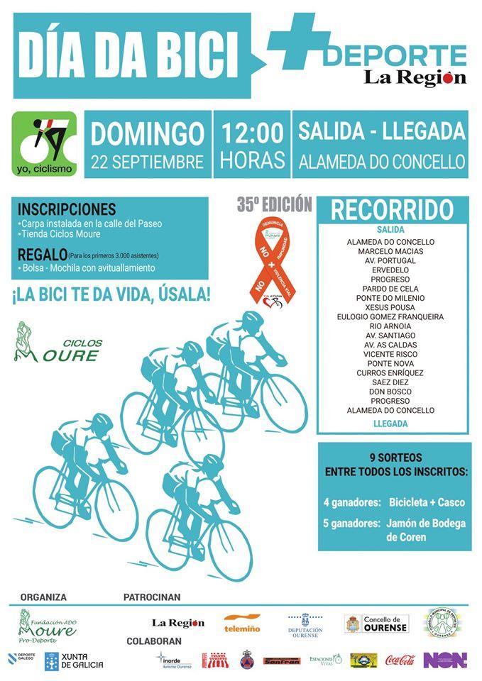 El próximo 22 de septiembre se celebrará en Ourense el Día de la Bici