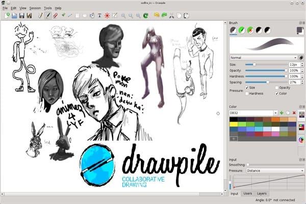 DrawPile هو تطبيق يمكّنك من استضافة جلسة رسم ومشاركة اللوحة مع أصدقائك