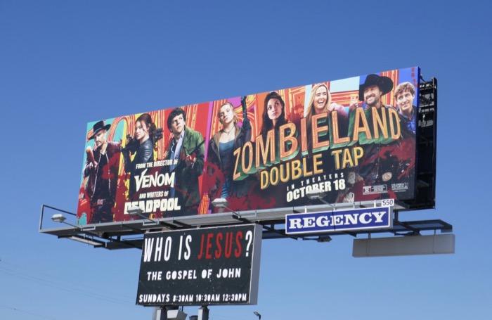 Zombieland Double Tap movie billboard