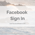 Facebook Login and Facebook Sign in Account