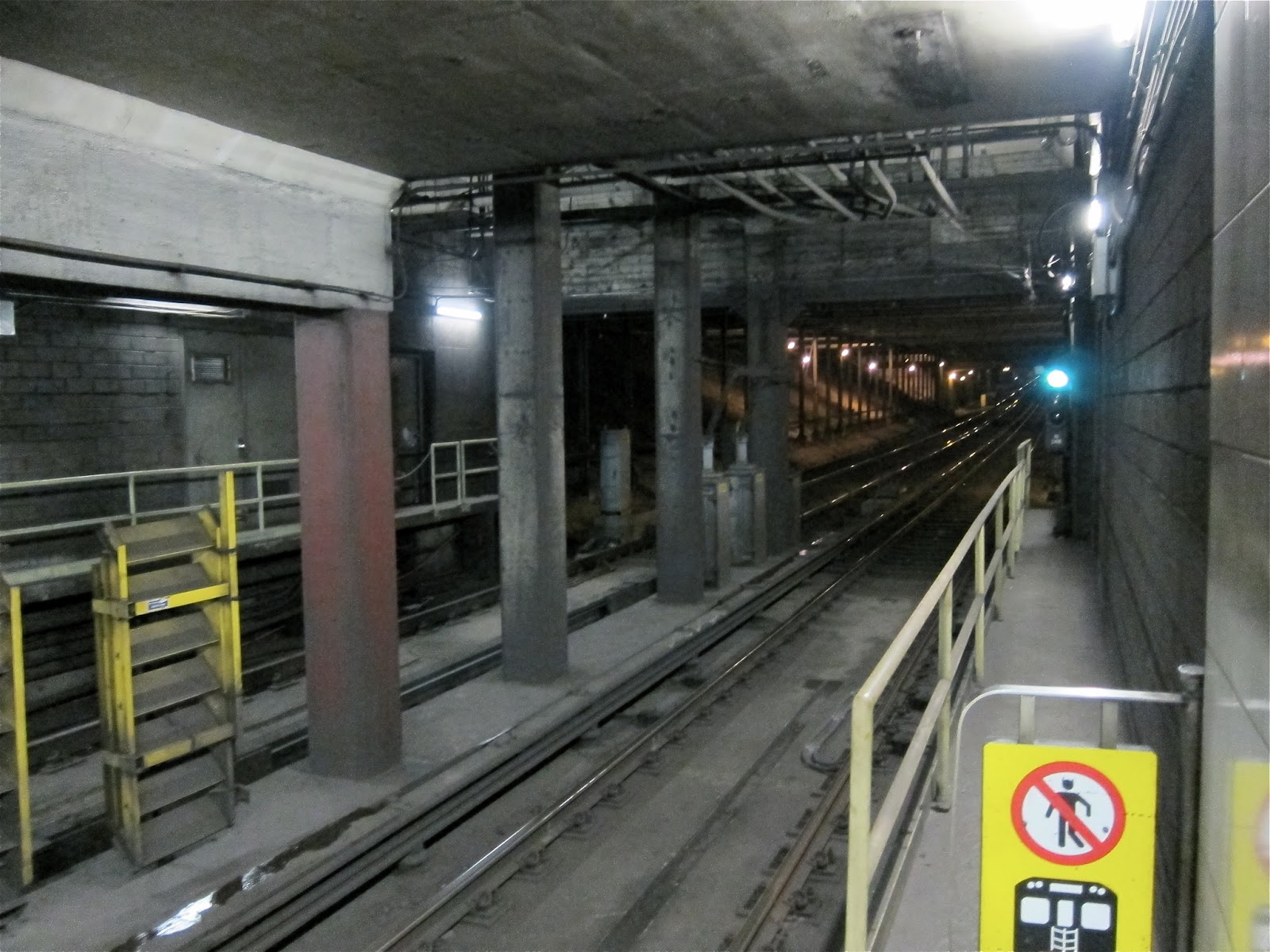 Tunnel view at Summerhill station
