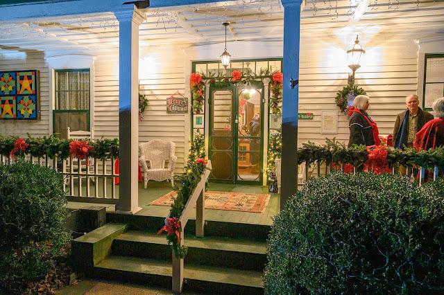 Shelton House at Christmas