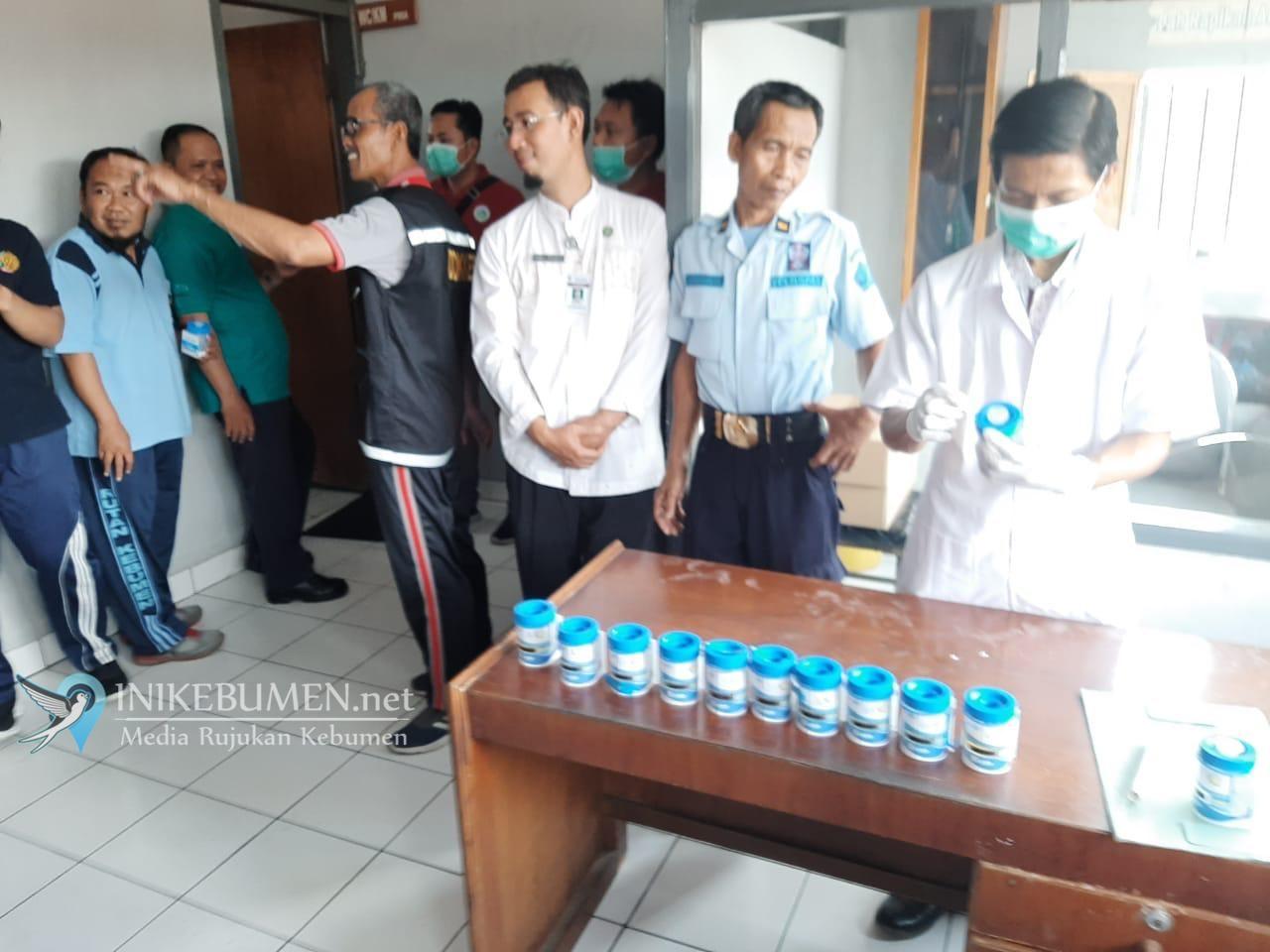 Cegah Peredaran Gelap Narkoba, 39 Petugas Rutan Kebumen Jalani Tes Urine