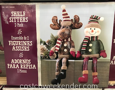 Costco 1900339 - Reindeer and Snowman Shelf Sitters