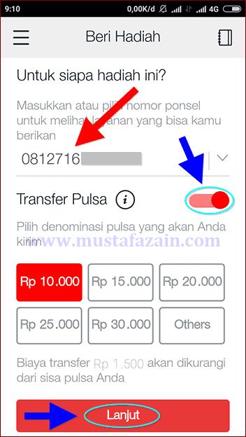 Cara Transfer Pulsa Menggunakan Aplikasi MyTelkomsel