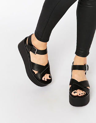 Block wedges with crossover straps, $48.51 from Pull & Bear