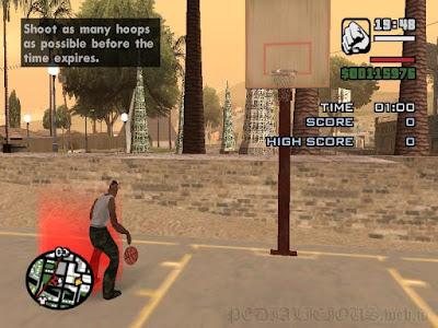 GTA San Andreas basketball challenge east los santos