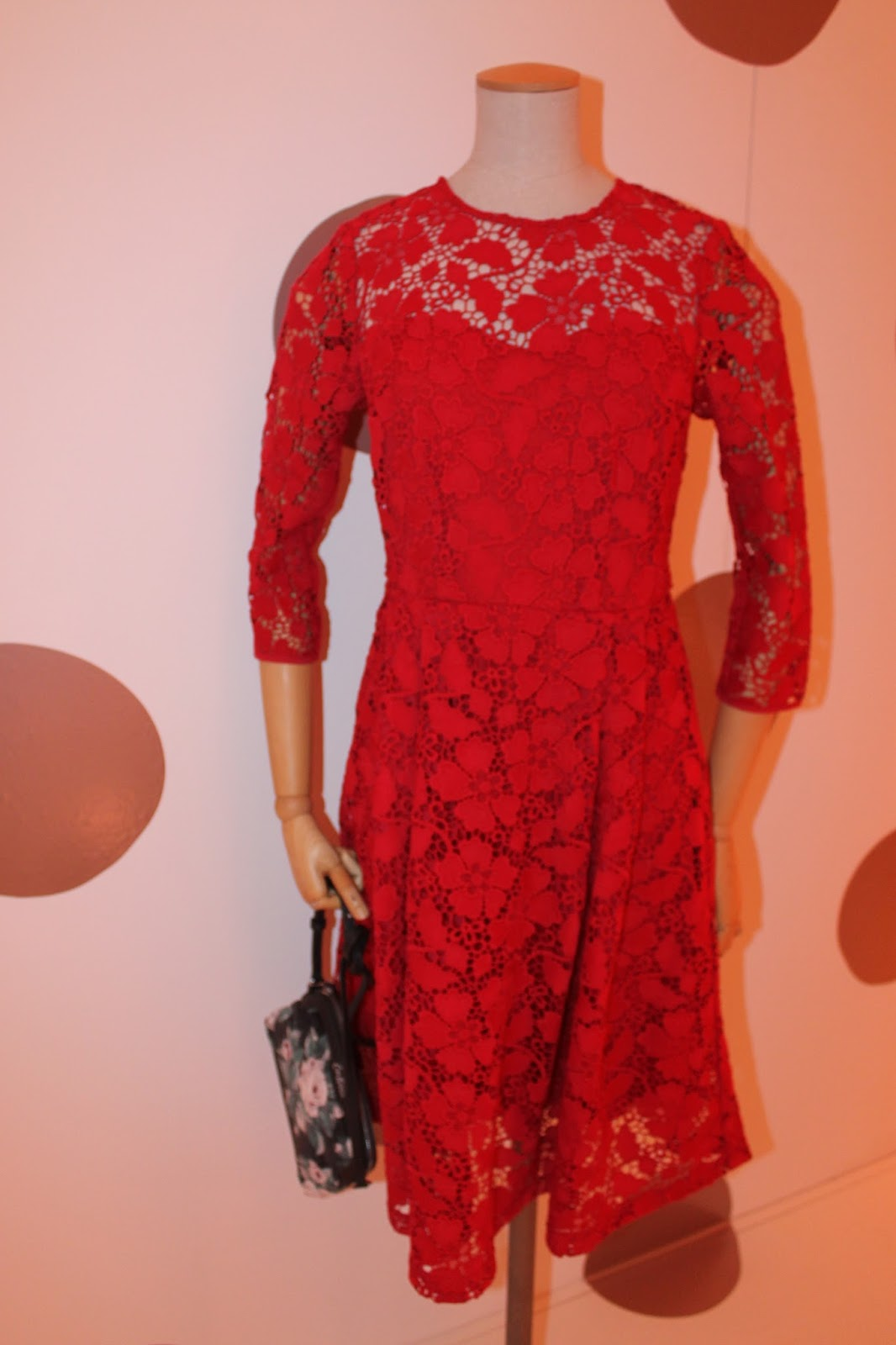 8e91645d0fc2 Red is a lucky colour and traditionally you wear something red to welcome  the new year. This lace dress by Cath Kidston has got a full skirt, ...