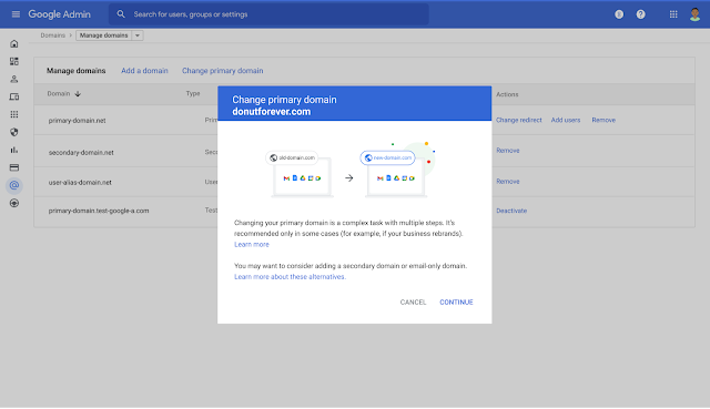 New streamlined experience for managing users and domains in the Admin console 10