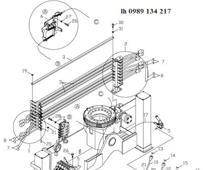 quay toa của cẩu Kanglim 3 tấn KS733N-KS734N-KS735N