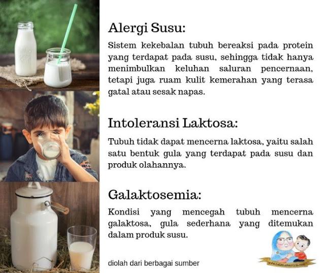 alergi susu sapi beda dari intoleransi laktosa