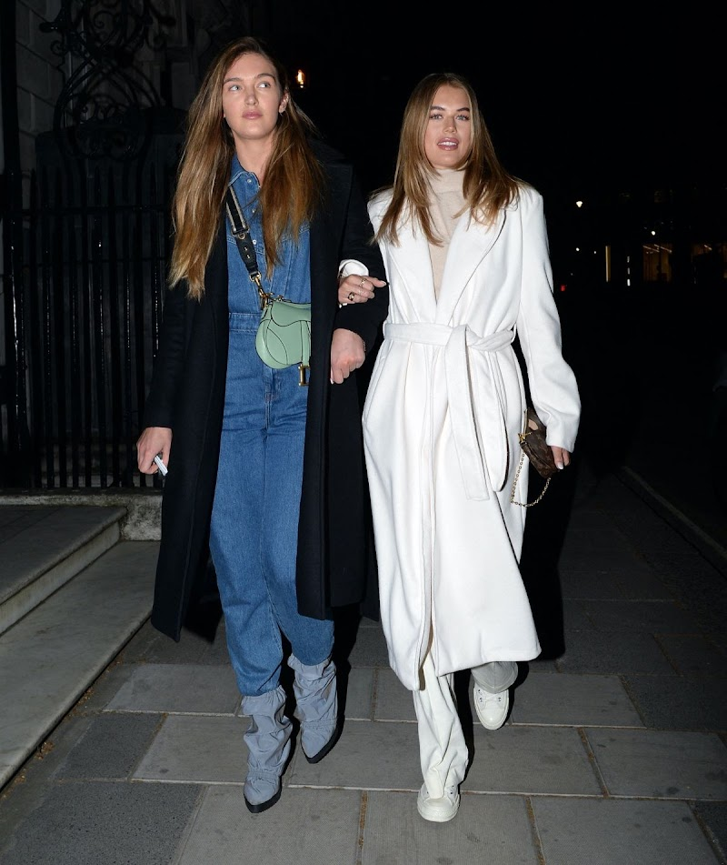 Lorna Florence and Arabella Chi -Night Out in London 14 Apr-2021