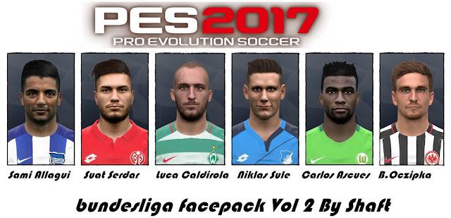 PES 2017 bundesliga Facepack Vol 2 by shaft