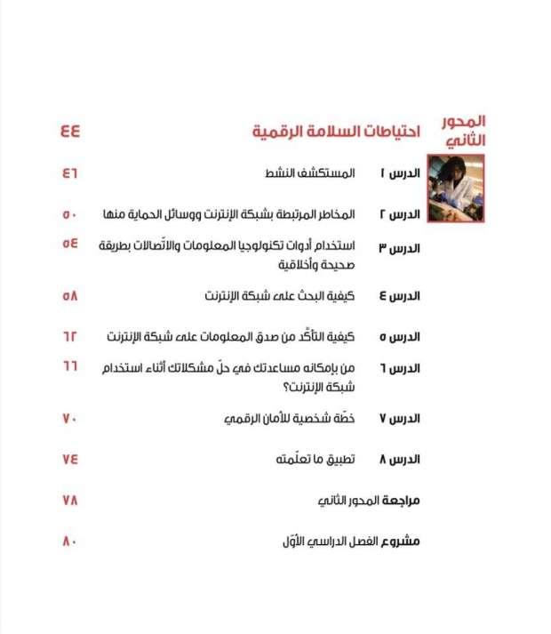 كتب الصف الرابع الابتدائي للعام الدراسي 2021 / 2022 12