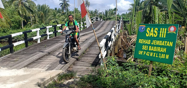 Warga Sudah Bisa Nikmati jembatan yang Dibangun TMMD