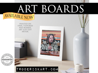 The Dude art board by Boulder artist Tom Roderick