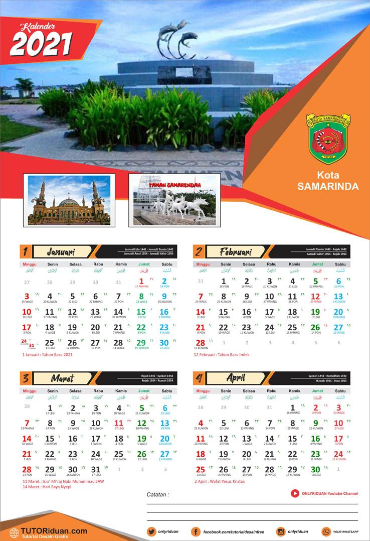Aneka Model Desain Kalender Dinding 2021 (Free CDR ...