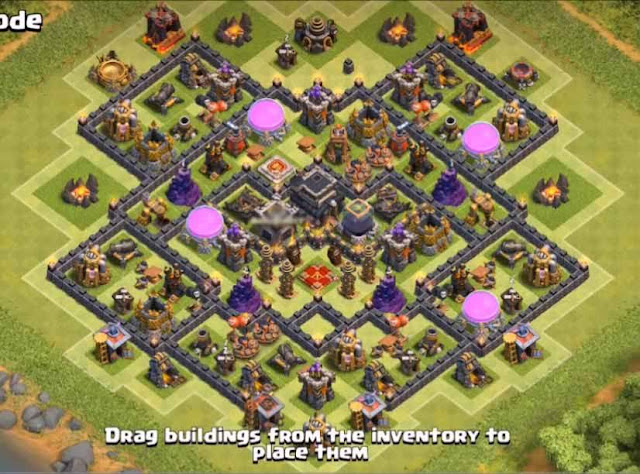 Base COC TH9 Farming 25