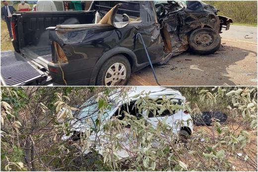 Tragédia em Livramento-BA: Três pessoas morrem em acidente envolvendo dois carros na BA-152