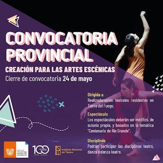 CONVOCATORIA PROVINCIAL DE ARTES ESCÉNICAS