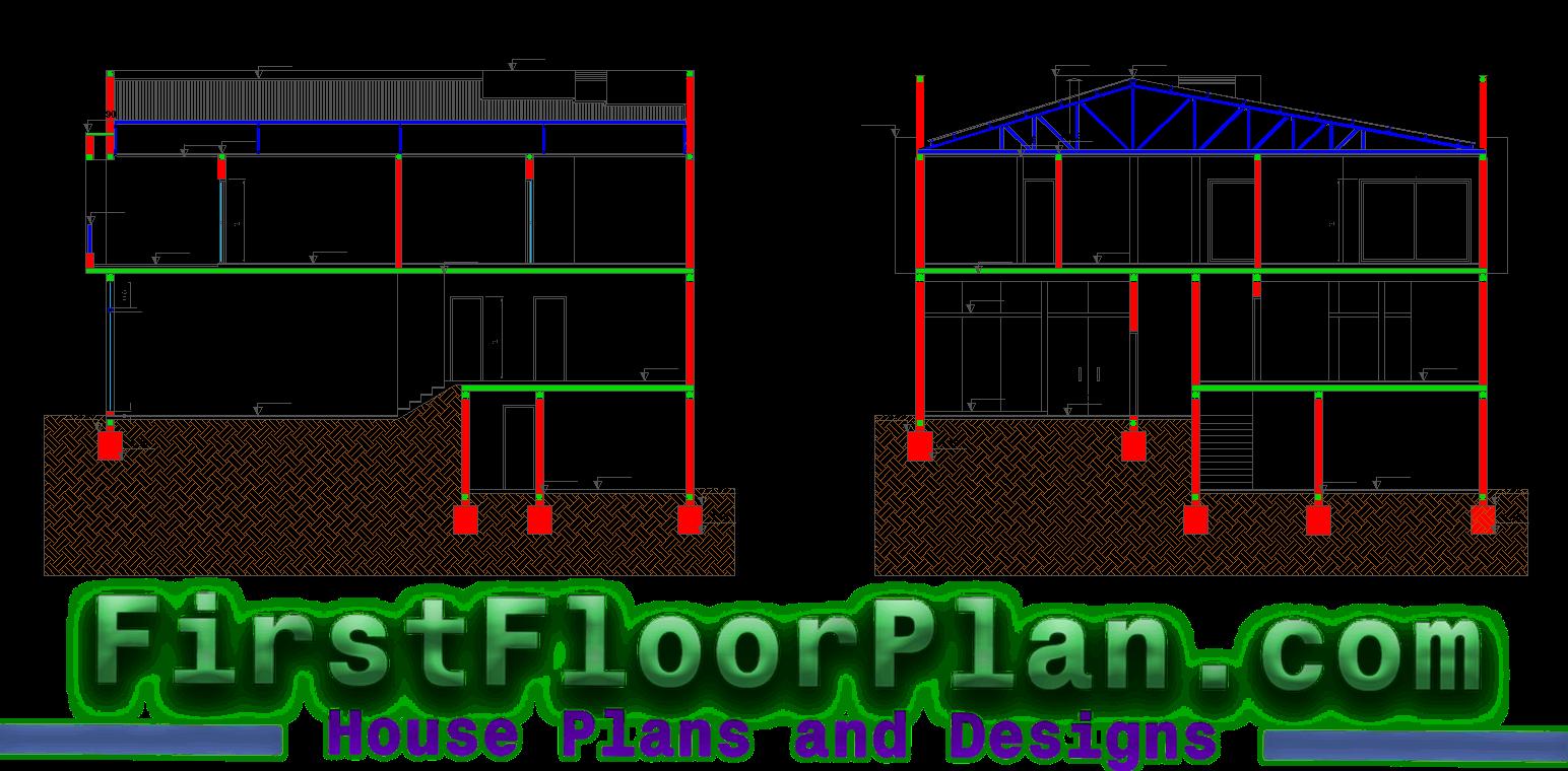Duplex House Section
