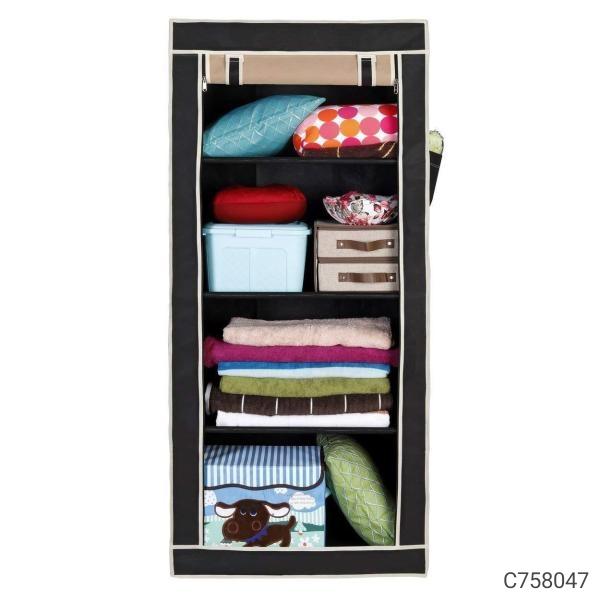 Foldable wardrobe organizer