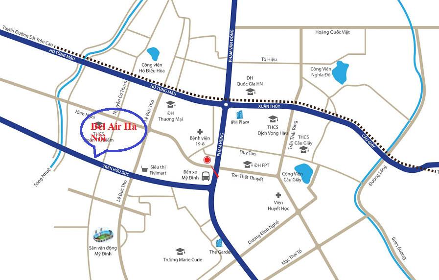 Vị trí dự án chung cư Bel Air Hà Nội