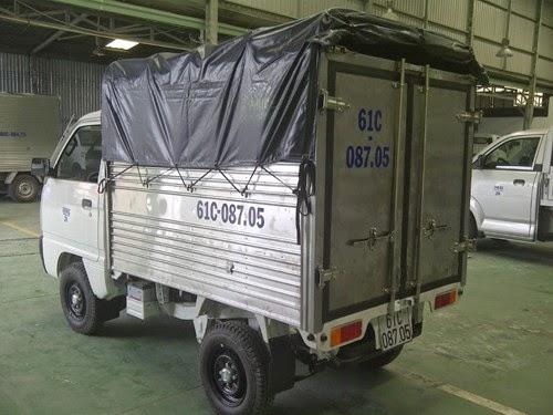 Xe ben suzuki 500kg,xe thùng kín
