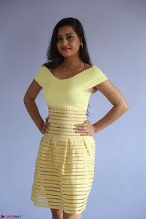 Shipra gaur in V Neck short Yellow Dress ~  079.JPG