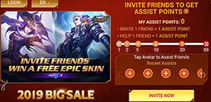 Skin Epic Event Mobile Legends (ML) Gratis