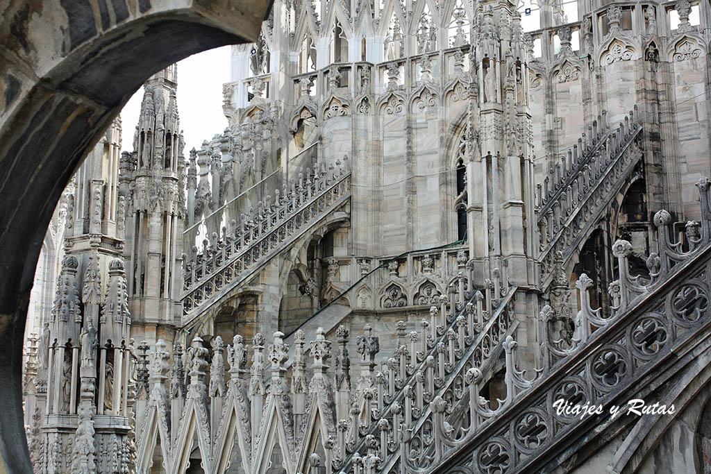 Detalle del tejado del Duomo de Milán