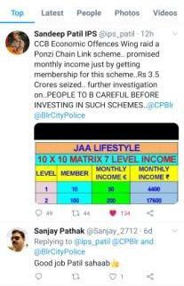 sandeep patil twit on jaa lifestyle scam