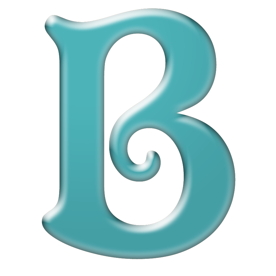 B-Cuz I Can ♥♥♥♥♥♥♥♥: Free Bright Teal Digi Scrapbook Alphabet